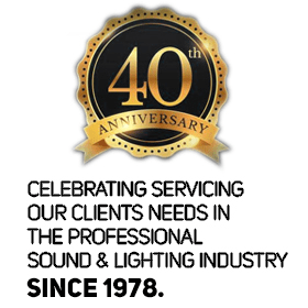 Celebrating 40 years serving the sound and lighting industry