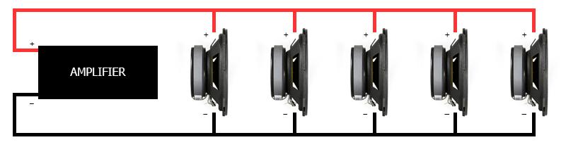100v line sound installation Diagram