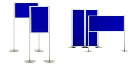 exhibition poster boards sizes