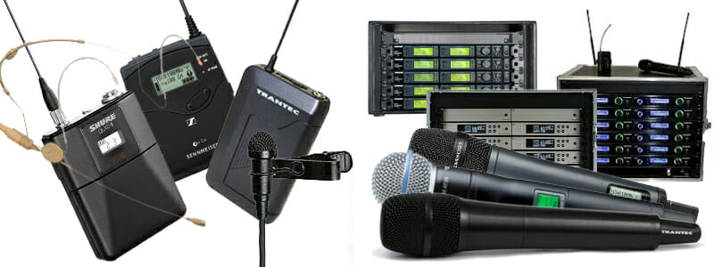 Wide range of Hire radio mics