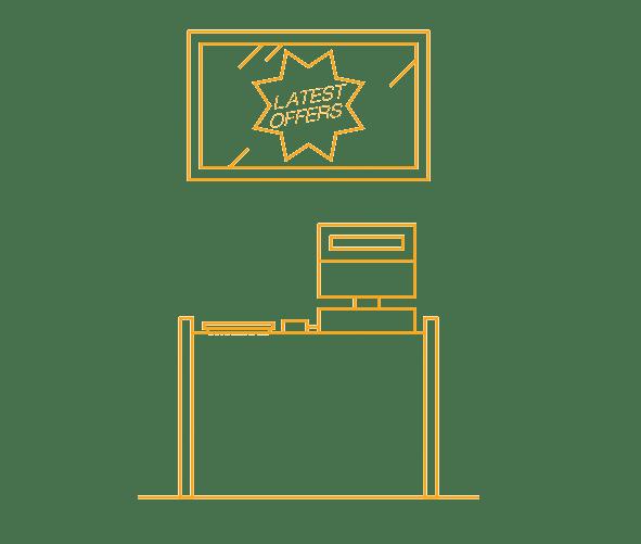 Point of sales digital signage